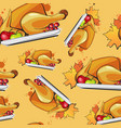 happy thanksgiving day seamless pattern autumn vector image vector image