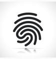 human fingerprint icon isolated design vector image