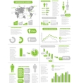 INFOGRAPHIC DEMOGRAPHICS NEW STYLE GREEN vector image vector image