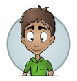 isolated avatars guy with a pleasant expression vector image