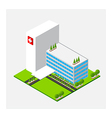 Isometric medium Hospital healty and medical vector image