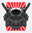 japanese hannya mask tattoo vector image vector image