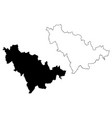jilin province map vector image vector image