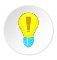Light bulb idea icon cartoon style vector image