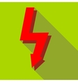 Lightning icon in flat style vector image vector image