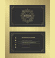 luxury business card and golden vintage ornament vector image vector image