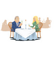 man and girl in cafe funny people in restaurant vector image vector image