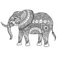 mandala elephant coloring vector image vector image