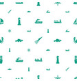 marine icons pattern seamless white background vector image vector image