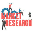 market research concept market research concept vector image vector image