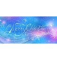 merry christmas 2018 calligraphy inscription vector image