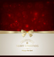merry christmas festive card vector image