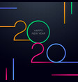 minimal abstract new year 2020 greeting card vector image vector image