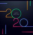 minimal abstract new year 2020 greeting card vector image