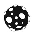Moon black simple icon vector image vector image