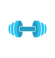 muscle lifting icon - fitness barbell - gym icon vector image