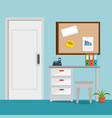 office place scene icons vector image