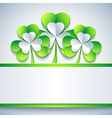 Patricks day card grey with leaf clover and paper vector image vector image