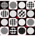 Polka dot patchwork vector image