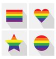 Pride flat icon set vector image vector image