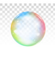 rainbow soap bubble on a transparent background vector image vector image