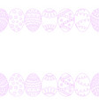 seamless easter eggs border background doodle vector image vector image