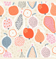 seamless exotic pattern with creative fruits vector image
