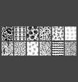 set 12 unique seamless black and white vector image