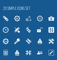 set of 20 editable toolkit icons includes symbols vector image vector image