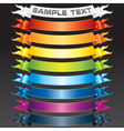 set of multicolored ribbons vector image