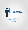simple business icon of success key in blue color vector image