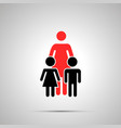 Single mother with two childrens silhouettes