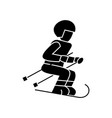 skier icon sign on isolate vector image vector image