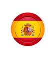 spanish flag on the round button vector image