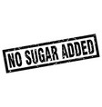 square grunge black no sugar added stamp vector image vector image