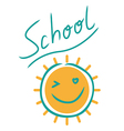 Sunny school sign vector image vector image
