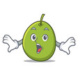 surprised olive mascot cartoon style vector image