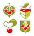 symbols cherry vector image vector image