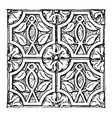 syrian carving christian ornament from tourmanin vector image vector image
