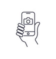 taking selfie on smartphone concept creative icon vector image