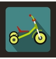 Tricycle icon flat style vector image vector image