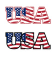 USA Text Flag USA United States of America Flag in vector image vector image