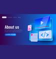 web site ui element banner development vector image