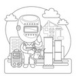 welder coloring page vector image vector image