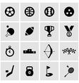 black sport icon set vector image