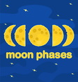 Moon phases Flat design vector image