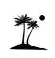 palm tree silhouette summer holiday nature vector image