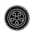 wheel car icon black sign on vector image