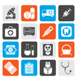 Flat medical hospital and health care icons vector image