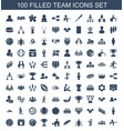100 team icons vector image vector image